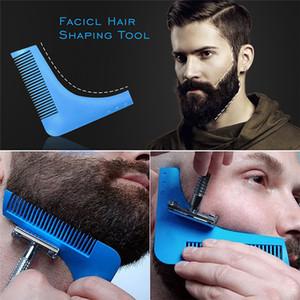 Meilleures vente peigne beardshaping Blaireau hommes sexy homme barbe garniture coupe de cheveux de modèle modèle garniture barbe coiffage outil de style sz155