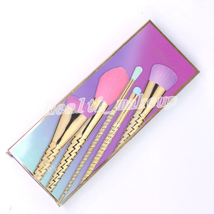Factory Unicorn Makeup Brushes Sets Marcas profesionales Best Brush 5 Unids Shimming Spiral Shank Face Eyes Maquillaje Herramientas DHL Envío gratis