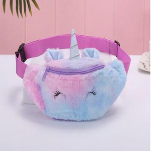 Cute Unicorn Female Waist Bag Kids Fanny Pack Cartoon Plush Women Belt Bag Fashion Travel Phone Pouch Chest Bag School Backpack For lxAdJ