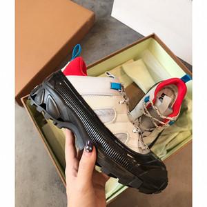Burberry shoes 2020 Designer Casual Chaussures Femmes Hommes Hommes Daily Style de vie Skateboard Chaussures de luxe à la mode Plate-forme Marche Formateurs Black Glitter Shinny