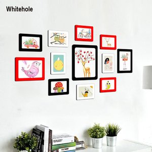 DIY Colorful Magnetic Photo Picture Frames Fridge Refrigerator Magnet Photo frame For Wall Living Room Decor 11 Colors