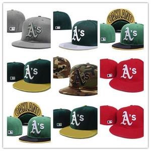 Guter Verkauf Ausgestattete Hüte Sonnenhut Oakland Hut Mütze Team Baseball Gesticktes Team Flache Krempe Hüte Baseball Größe Kappe Marken Sport