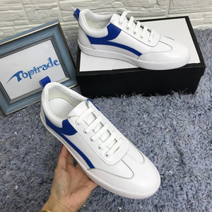 Low Top Casual Shoes Uomo Donna Sneaker in pelle bianca Designer di lusso Multicolor Scarpe casual Classica Allacciatura Outdoor Casual Sneaker
