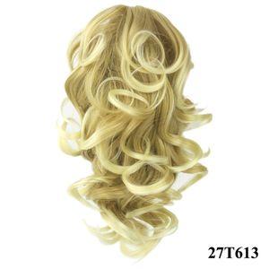 Envío gratis nuevo estilo Body wave ponytail extension para mujeres clip sintético cola de caballo postizos extensiones de cabello