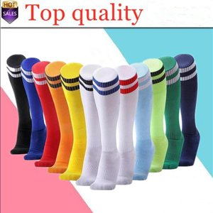 22 Colors Adult Children Sport Socks Cotton Polyester Above Knee Plain Socks Long Soccer Stockings Men Over Knee Sock Baseball