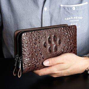 Main Prenez paquet Man Wallet Youth Tide Paquet main Crocodile Man Portefeuille long Fonds Zipper le portefeuille des affaires commerciales Catch main Paquet