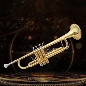 Factory Outlet Бах Страдивари Профессиональный Bb Труба LT180-43 Золото Лак Instrumentos Musicales Profesionales Мундштук Бесплатно