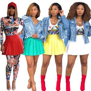 womens summer dress designer Above Knee pleated dress high quality skirt elegant luxury clubwear hot selling klw3377