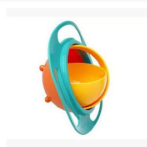 Komik Evrensel 360 döndürün Dökülme-Proof Çanak Yemekler Kaliteli Çocuk Bebekler Çocuk Bebek Oyuncak Yemekler Katı Mama Kapları