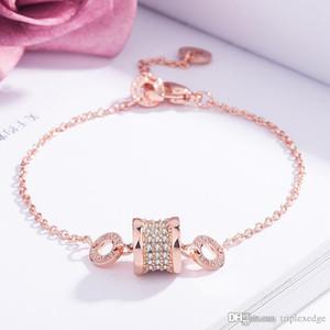 Kleine Taille voller Diamanten Super Flash Kristallarmband Galvani 18 Karat Roségold Bettelarmband koreanische Version des einfachen Schmuck