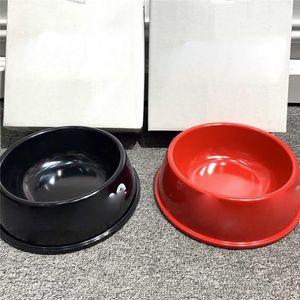Luxury Letter Printed Pet Bowls 2 Colors Durable Pattern Pet Feeders Indoor Outdoor Trendy Teddy Bulldog Bowls & Feeders