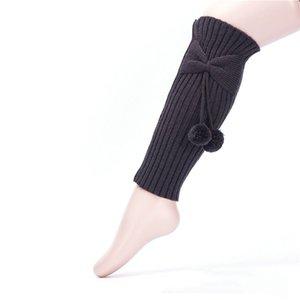 Linda chica de la rodilla altos calcetines de la media de los niños Los niños calentador de la pierna Las polainas calientes del invierno calentadores sólidas