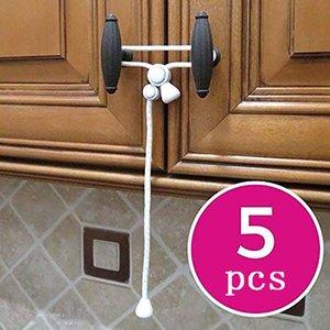1pack Baby Safety Cabinet Lock Child Safety Cabinet Door Lock Home Belt Door Rope Rope Buckle