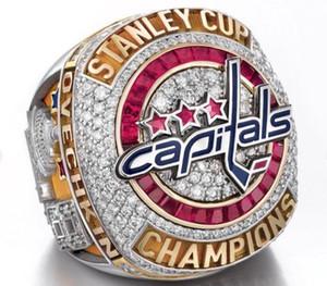 2018 Washington Capitals Stanley Cup Championship anillo Fan Men Gift Wholesale Drop Shipping