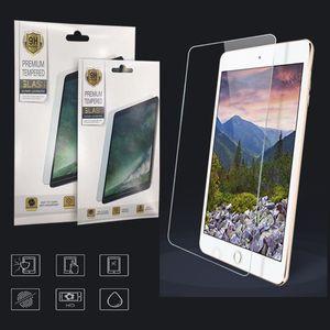 Для iPad Air 4 2 3 5 6 7 8 PRO 11 Mini 4 5 Новые 10,2-дюймовые Закаленные стекла Анти-царапин 0,3 мм Защитная пленка с бумажной розничной упаковкой