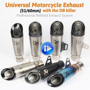 CB190R / X K8 K9 K7 CBR300 / 500 de fibra de carbono 60mm akrapovic silenciador silenciador yoshimura CBR escape moto tubo de escape 51mm