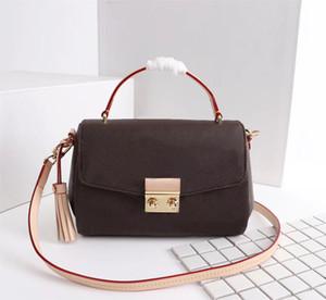 Genuine Leather Shoulder do Designer Luxo Bolsas Bolsas Mulheres saco do tipo Croisette Tassel Handbag Crossbody Bag Médio Handle Tote