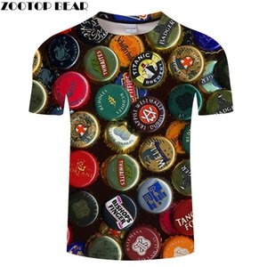 Colorful Beer Lid Male t shirt Travel tshirt Men t-shirt 3D Top Tee Summer Short Sleeve Shirt 6XL Streetwear Dropship ZOOTOPBEAR