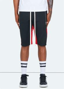 Verão Pure Color Mans Shorts Casuais Solto Esporte Homem Calças Curtas Designer de Moda Masculina Com Roupas com Cordão Designer