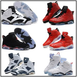 New high Qaulitys Jumpman 6 men Kids basketball shoes Carmine Infrared Sport blue Olympic Slam Dunk Oreo sports Sneakers