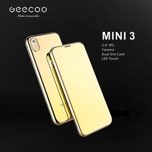Sbloccato Luxury Gold Metal telefono cellulare telaio telefono Super Mini ultrasottile Card con pulsante MP3 touch fotocamera cellulari mobili Bluetooth Dialer