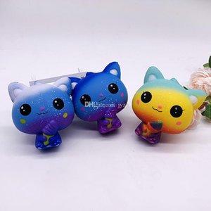 Star Cat Squishy novo Lento Rising Soft Oversize Phone Squeeze Brinquedos Pingente Anti Stress Kid Descompressão Dos Desenhos Animados Brinquedo