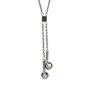 Gold Silver Color Stainless Steel Men Hip hop vintage earphone pendant necklaces fashion long chain mens necklace Hiphop jewelry