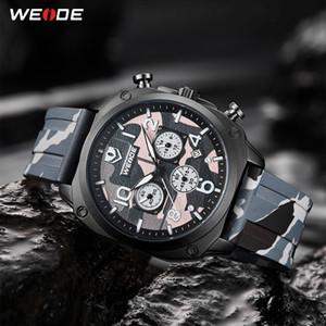 WEIDE Top Marque Hommes militaire affichage numérique Homme Sport Bracelet en silicone Mode Outdoor Casual Montres-bracelets relojes hombre