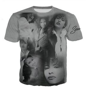 New Mens Moda / Womans selena quintanilla siger T-shirt do verão estilo engraçado Unisex 3D Imprimir Casual Tops T-shirt mais AA017 Tamanho