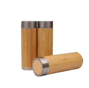Бамбуковый из нержавеющей стали Стаканы с чаем Infuser Фильтр 450мл фиолетовый песок Керамика Liner бутылки воды Термос питьевой чашки Кружки GGA3106-5