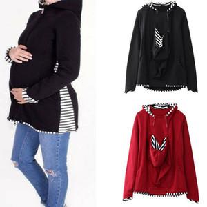 1PC شتاء دافئ أمي sweatershirt الطفل الناقل سترات الكنغر الأمومة ملابس خارجية معطف النساء الحوامل S-2XL