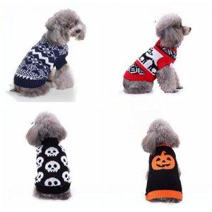 Vestiti del cane di Natale del cane del gatto maglieria abbigliamento Gilet animali Halloween Party Cosplay vestiti caldi di inverno maglione carino Dog Abbigliamento WY71Q