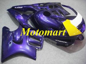 혼다 용 오토바이 페어링 키트 CBR600F3 95 96 CBR 600 F3 1995 1996 ABS 퍼플 옐로우 화이트 페어링 세트 + 선물 HG06
