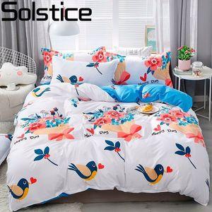 Solstice Home Textile Rei Rainha gêmeo roupa de cama preto tiro Folha da estrela capa de edredão Pillowcase Kid Menino adolescente Sets menina de cama