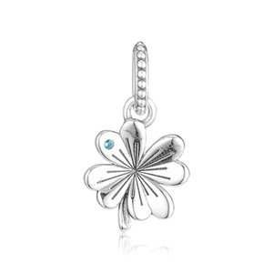 2019 Spring 925 Sterling Silver Jewelry Four Leaf Clover Charm Beads Fits Pandora Bracelets Necklace For Women DIY Making