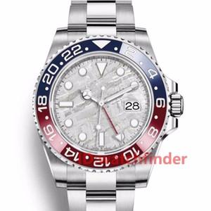 새로운 패션 고급 방수 바젤 스테인레스 스틸 GMT 남성 오토매틱 무브먼트 럭셔리 디자이너 시계 시계 패션 손목 시계