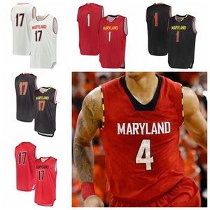 NCAA Maryland Terrapins Jerseys Chol Marial Jersey Makhel Makhi Mitchell Reese Darryl Morsell College Basketball Trägt Individuelle genähtes