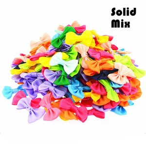 180pcs  Lot Mini Small Pringting Ribbon Bow Pet Bowknot Craft Only Bow No Clips Diy Wedding Decor Hair Accessories Pb001