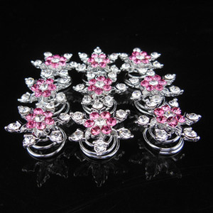 New Women Bridal Headdress Hair Jewelry Snowflake Hair Clips Girl Diamond Hair Accessories Hairpin for Cosplay Party Supplies 500pcs Send