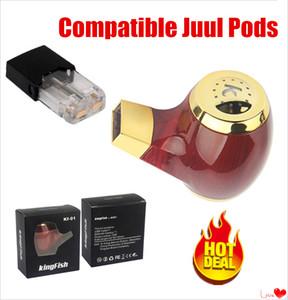 2 pezzi più nuovi Kf-01 E tubo 900mAh Portable Vape ricaricabile penna Batteria compatibile per JUUL Vapor Baccelli kit Vape autentici