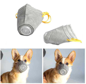 Pet Dog Muzzle Smoke Mouth Mask Anti Bark Anti-PM2.5 Bite Adjustable Breathable Grey Dog Training Muzzle For Pet Health S M L Size