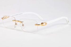 Luxury-New Wood Occhiali da sole da uomo in legno Buffalo Horn occhiali da sole Donne specchio del designer di marca senza montatura in bambù occhiali da sole Oculos de sol masculino