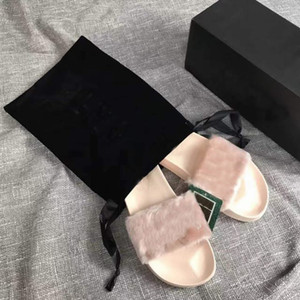 2019 Women Shoes Leadcat 2019 Fenty Rihanna Shoes for Women Slippers Indoor Sandals Girls Fashion Scuffs Pink Black Grey Fur Slides With