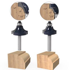 6 mm de mango 1/4 vástago de Ronda sobre rebordear ribete Router Bit madera fresa de extremo recto Herramientas de corte molino de corte de la madera Potencia