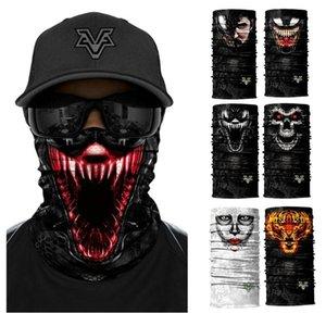 Film Venom Anime Hoodie Skull sans couture Balaclava écharpe magique Couvre-chef Sports de plein air Bandanas randonnée à vélo Masque Neck Gaiter