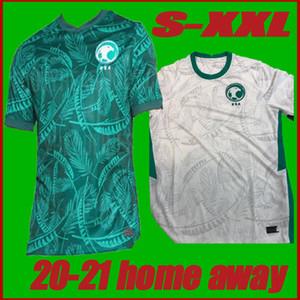Tayland 2020 2021 SUUDİ ARABİSTAN Futbol Forma uzakta yeşil 20 21 Erkek Suudi Arabistan EDUARDO Botía ev Kısa Kollu Futbol Gömlek