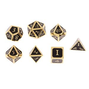 7-Die Set Multi-sided Dice for D&D Game Colored Polyhedral Dice Role Playing Games