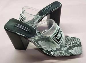 Nuove donne di modo di sandali Sandali in pelle estate scarpe tacco alto donna peep toe flip-flop DFF12061