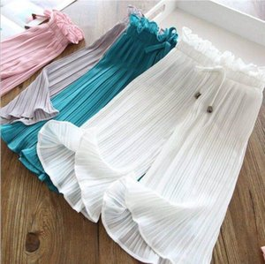 Baby Pants Girls Ruffle Bowknot Wide Leg Pants Kids Summer Anti-Mosquito Trousers Home Casual Elastic Air Conditioning Pants Pajama PY530