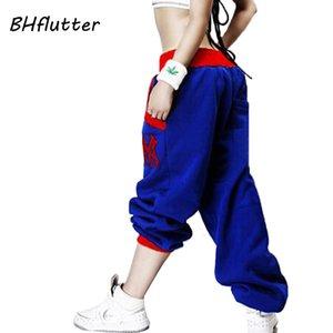 BHflutter femme Pantalons 2018 Broderie Pantalons simple Hip Hop lâche élastique taille basse Femmes Printemps Hiver Pantalon sarouel Y200418